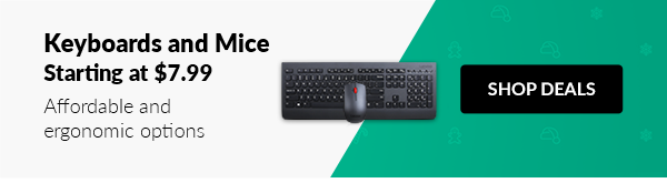 Keyboards and Mice Starting at $7.99